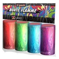 Xplode bunte Flamme - 4 farbige Fontäne in F1 Ganzjahreszulassung