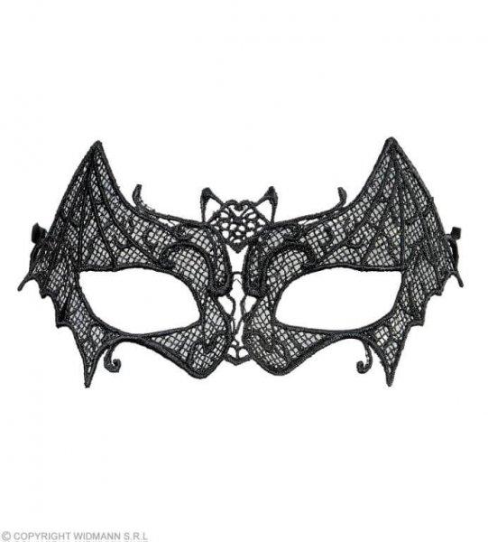 Fledermaus Augenmaske aus schwarzer Spitze