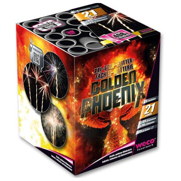 Golden Phoenix 21 Schuss Batterie von Weco