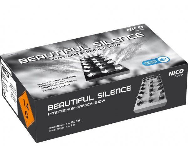 Beautiful Silence Bühnenshow - Fontänenverbund in T1 Zulassung von nico Feuerwerk