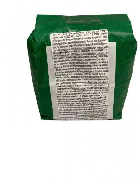Bengalflamme als Pulver Grün - 1Kg
