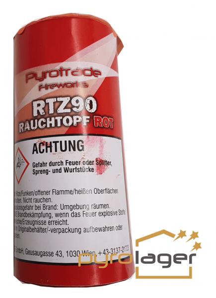 Rauchtopf RTZ90 ROT - Pyrolager.de