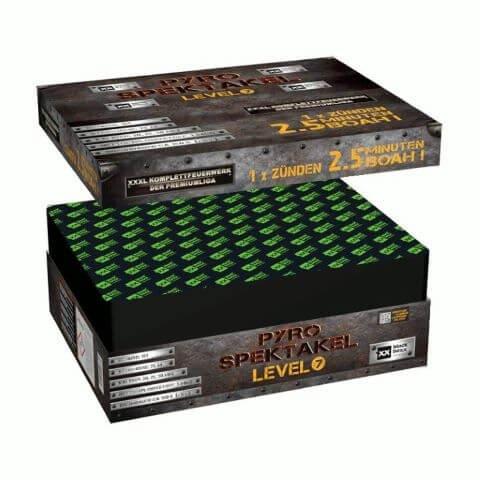Pyro-Spektakel Level 7 - XXL Feuerwerk mit ca. 2,5 Minuten Brenndauer