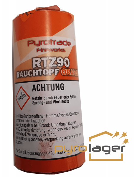 Rauchtopf RTZ90 Orange - Pyrolager.de