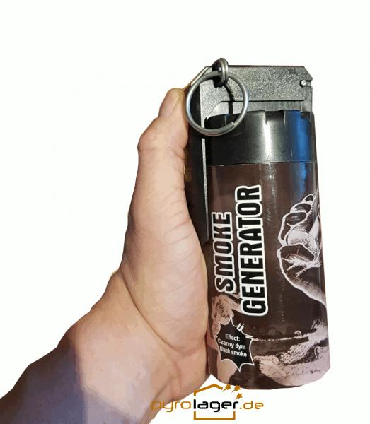 TXF932 XXL Rauchgranate in schwarz mit Kipphebel Zündung
