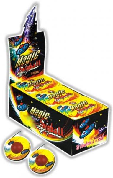 MAgic Spinnball - 6 Bodenkreisel mit Crackling Finale