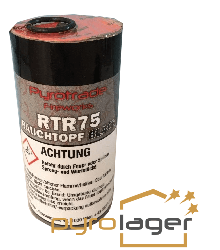 Rauchtopf RTR75 Schwarz - Pyrolager.de