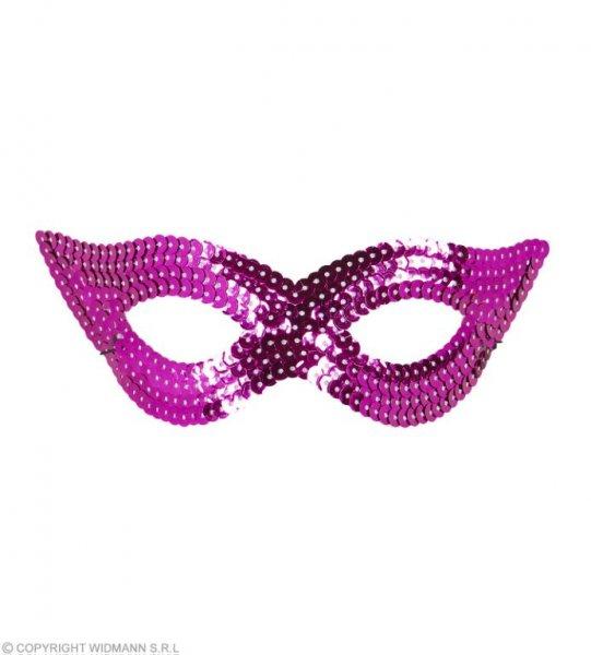 Augenmaske mit pinken Pailletten