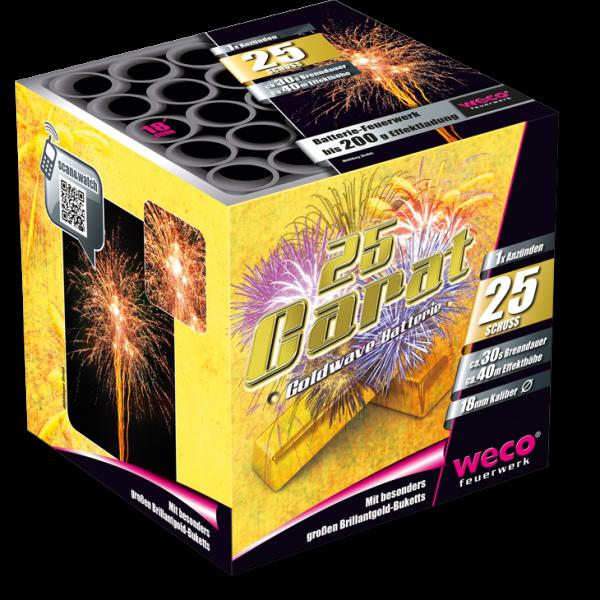 25 Carat Gold Batterie von Weco