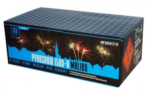Pyroshow 1500-A Malibu - Farbenfrohes 117 Schuss XXL Feuerwerk