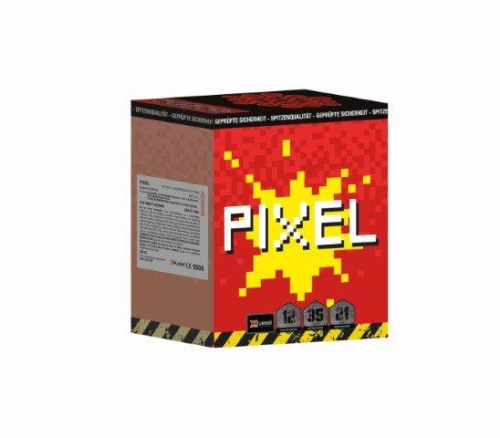 12 Schuss Baterie XP5224 Pixel mit 2 stufigen Crackling Effekt