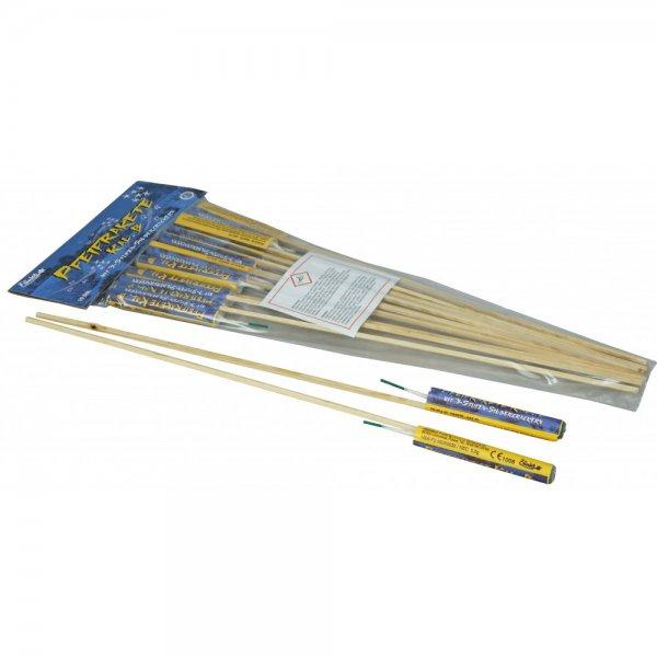 Pfeifraketen Kaliber B mit 3 Stufen Silbercrackern - kleine Raketen mit silbernen Pfeif Aufstieg und Crackern -