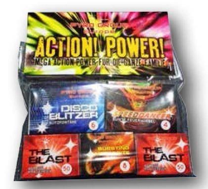 Action! Power! - 118 Teiliges Set Jugendfeuerwerk - Ganzjahresfeuerwerk