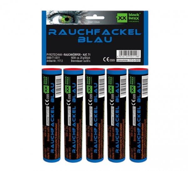 Rauchfackel Blau im 5er Pack