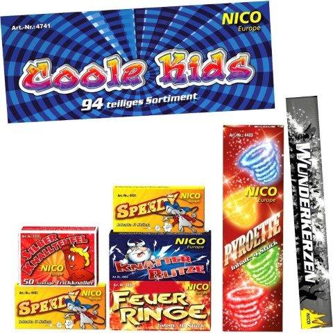 Coole Kids Kinderfeuerwerk Beutel mit 7 Schachteln