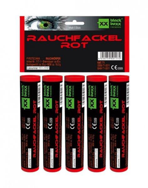 Rauchfackel Rot im 5er Pack