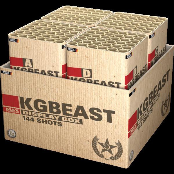 KGBEast Box - Irres 144 Schuss Feuerwerk mit Wahninns Finale