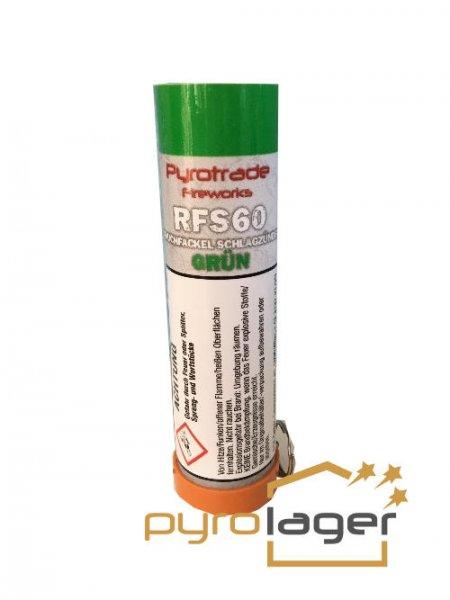 Pyrolager.de - Rauchfackel grün mit Schlagzündung