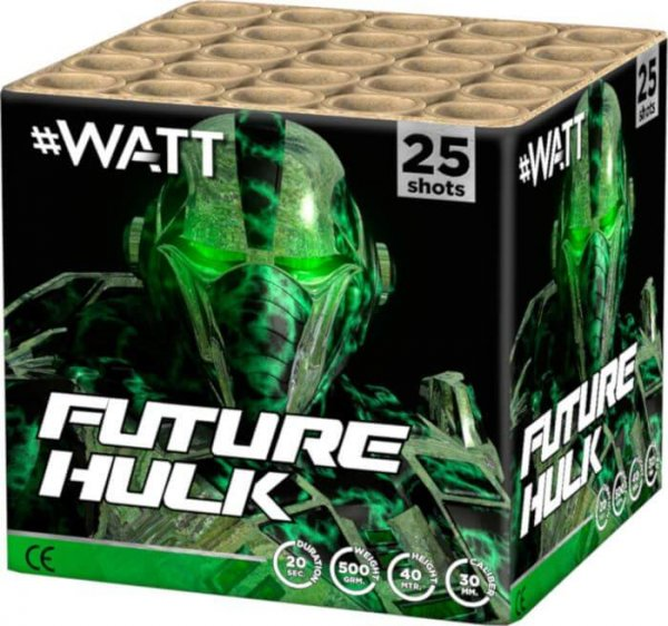 Future Hulk - Kräftiges 25 Schuss Feuerwerk der #Watt Reihe