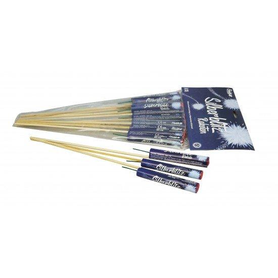 Silberblitz Raketen - 10 kleine Salutraketen von Funke Feuerwerk