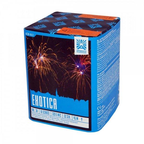 Exotica - 16 Schuss Feuerwerk mit faszinierenden Farbkombinationen