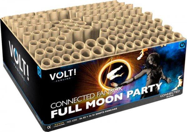 Full Moon Party Fächerkombination, 117 Schuss Verbundfeuerwerk aus der Volt! Reihe