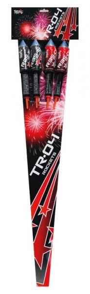 4 kräftige TR04 Raketen aus dem Hause Tropic Firework aus Polen