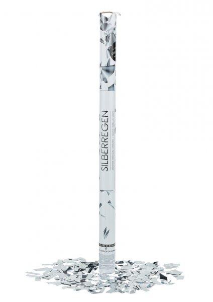 Konfetti Shooter - Silberregen - 80cm