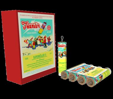 Thunder Crackers Super Böller II - 4er Pack