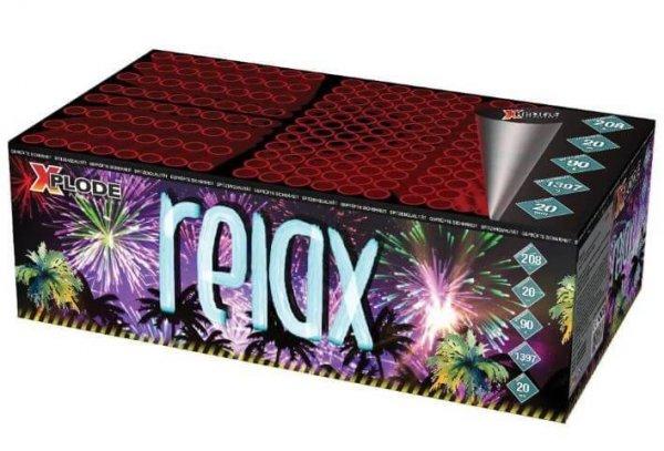 XP4456 - Relax - Großes XXL Feuerwerk mit 208 Schuss und unterschiedlichen Effekten.