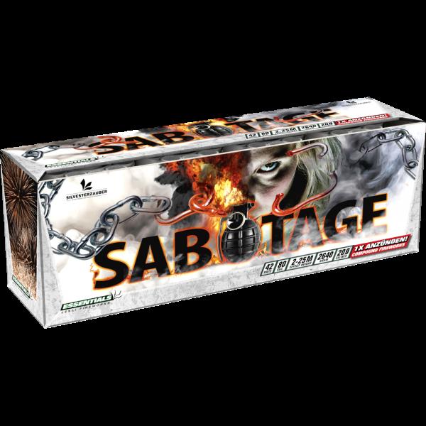 Sabotage - 4er Verbund aus Fontänen und Aufsteigendem Feuerwerk mit 30 Schuss -