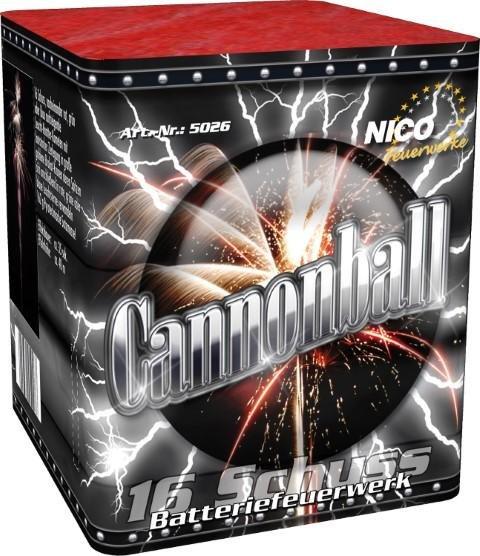 16 Schuß Canonnball von Nico Feuerwerk