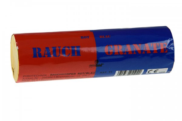 RauchgranateRot Blau - Doppelrauch im Pyrolager.de