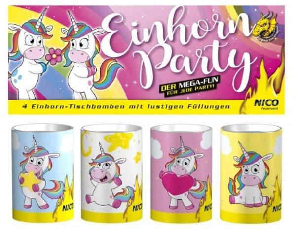 Einhorn Party Tischfeuerwerk