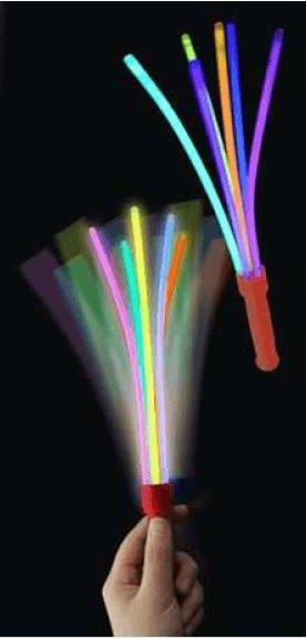 Knicklicht Leuchtwedel - ein toller Spaß aus 6 Knicklichtern