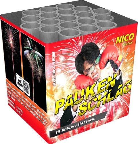 Paukenschlag - 19 Schuss Feuerwerksbatterie mit kräftigen Effekten