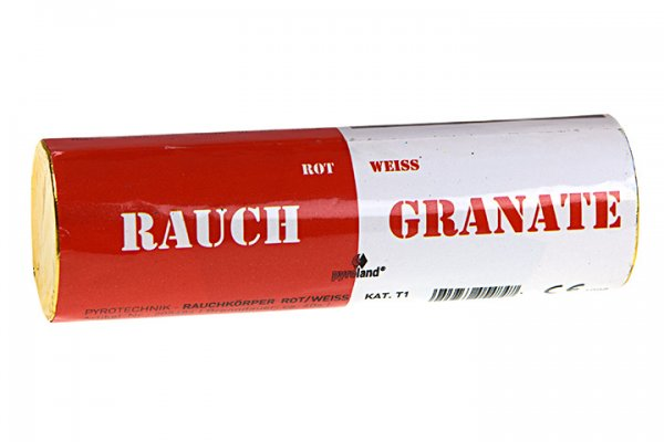 Rauchgranate Rot Weiß - Doppelrauch im Pyrolager.de