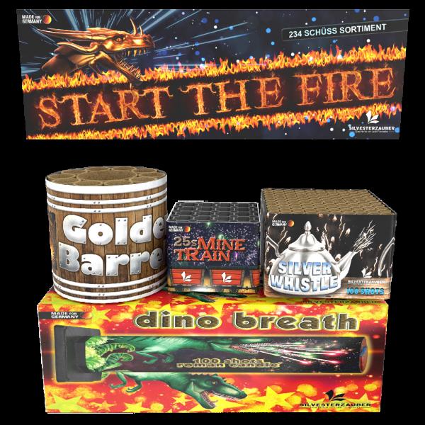 Start the fire - set aus 4 Feuerwerksbattrien