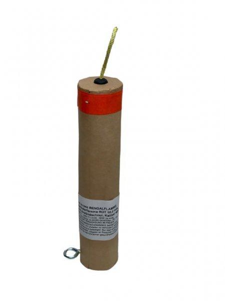 Bengalflamme 10 Minuten Rot Kaliber 40 mm