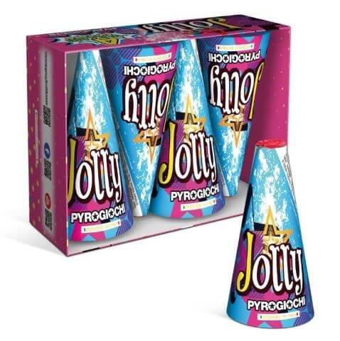 Jolly - 4er Set kleine Silbervulkane mit tollen Titan Funken
