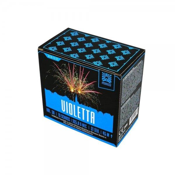 Violetta - 13 Schuss Feuerwerk mit großen Blinkereffekten