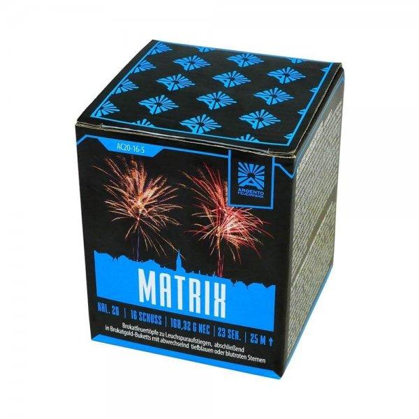 Matrix - 16 Schuss Feuerwerk mit tollen Brokat Effekten