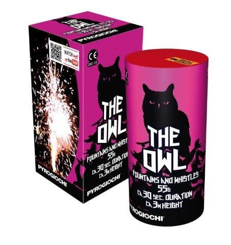 The Owl - Tolle Fontänenbatterie aus Italien mit 3fach Tonwechsel