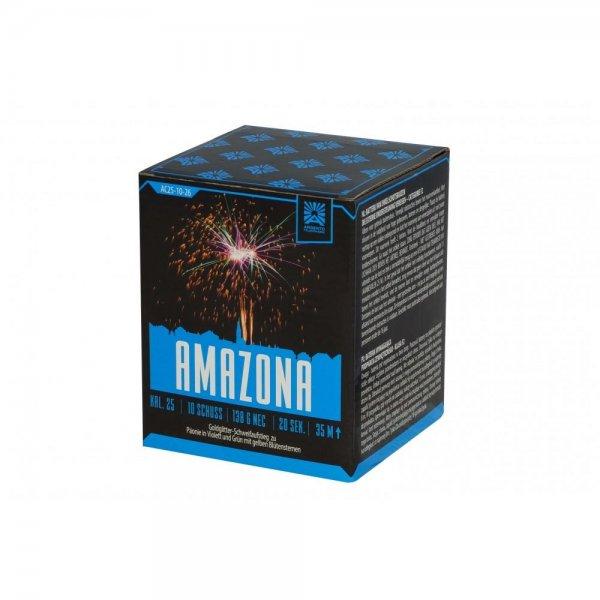 Amazona - 10 Schuss Feuerwerksbatterie der Firma Argento Feuerwerk