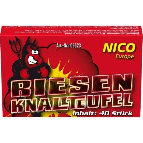 Riesen Knallteufel - 40x XL Knallerbsen von Nico