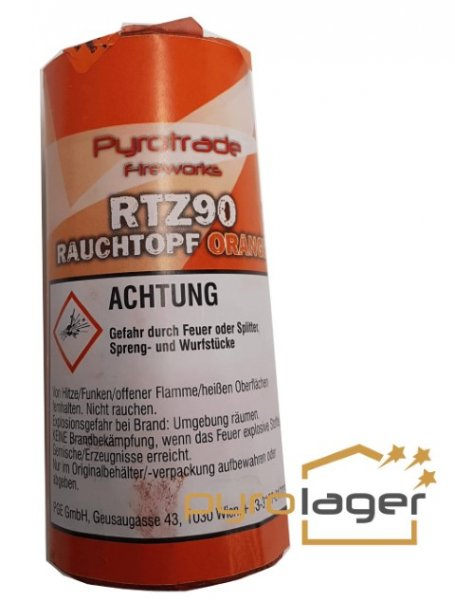 Rauchtopf RTZ90 Orange - Pyrolager.de