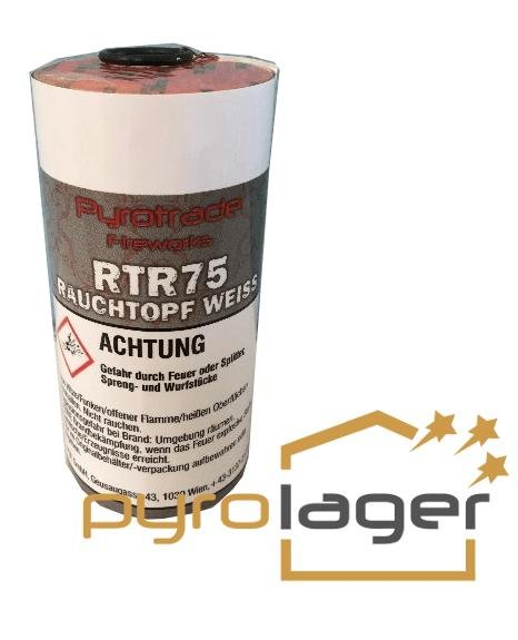 Rauchtopf RTR75 Weiß - Pyrolager.de
