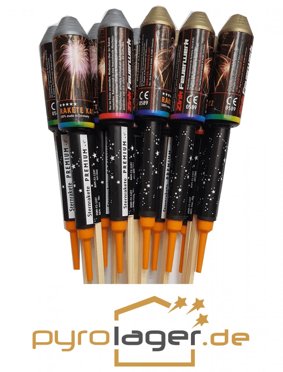 ZINK Premium Raketen Brokat und Silberweide