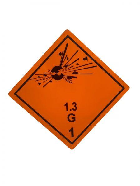 Gefahrgutaufkleber nach ADR 1.3G