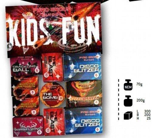 Kids Fun - 154 Teile Mega Kinderfeuerwerk